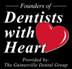 graphic for The Gainesville Dental Group with text 'Dentists with Heart'